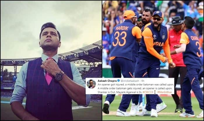 Aakash Chopra, Shikhar Dhawan, Shikhar Dhawan injury, ambati rayudu, ambati rayudu twitter, twitter, twitter reacts, vijay shankar, vijay shankar icc world cup 2019, vijay shankar out of world cup, vijay shankar ruled out of world cup, all-rounder vijay shankar ruled out of world cup, vijay shankar ruled out of icc world cup 2019, rohit sharma, mayank agarwal replacement, mayank agarwal replaces vijay shankar, indian all rounder vijay shankar,