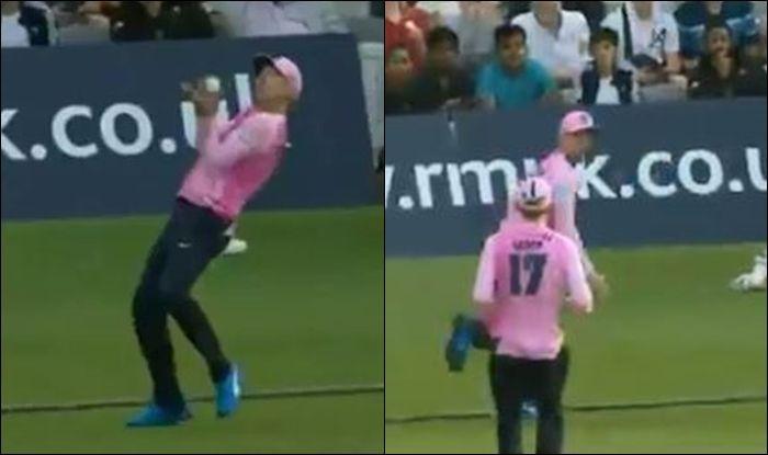 AB de Villiers, AB de Villiers catch, AB de Villiers relay catch, Middlesex vs Essex, T20 Blast Opener, Vitality Blast, Cricket News, George Scott, Ravi Bopara, Lords