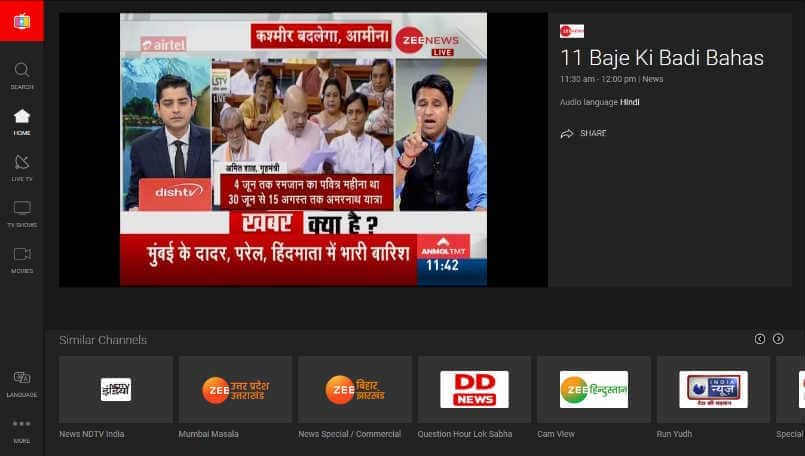 Airtel TV is now available on the web as well; offers more than 100 live TV channels