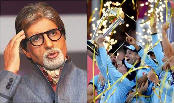 Amitabh Bachchan, ICC Cricket World Cup 2019, ICC World Cup 2019, Bachchan mocks ICC, Bachchan slams ICC boundary rule, England vs New Zealand, ENG beat NZ World Cup Final, Lord's, Cricket News, Amitabh Bachchan World Cup 2019, Kane Williamson, Eoin Morgan