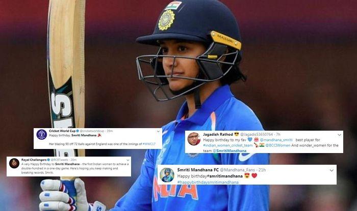 Happy Birthday Smriti Mandhana, Smriti Mandhana, Indian woman cricketer Smriti Mandhana, Women number one batswoman Smirit Mandhana, Number one batswoman Smriti Mandhana, Smriti Mandhana birthday, Smriti Mandhana twitter, Smriti Mandhana celebrates her birthday, Smriti Mandhana turns 23,