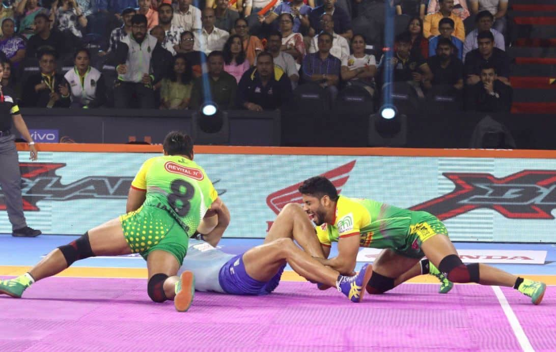 Tamil Thalaivas vs Patna Pirates, Pro Kabaddi League 2019 Highlights From Dome at NSCI SVP Stadium. Also Check Tamil Thalaivas vs Patna Pirates live match score, live streaming of TAM vs PAT, TAM vs PAT Points, TAM vs PAT Playing 7, Time in IST and Watch TAM vs PAT on Star Sports on TV and Online Streaming on Hotstar in India.