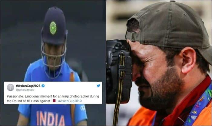 Crying Photographer, Asian Cup 2019, Iraq National football team, Fake News, MS Dhoni runout, ICC Cricket World Cup 2019 Semi-Final 1 Between India-New Zealand, Viral Image, MS Dhoni retirement rumours, ICC Cricket World Cup 2019, ICC World Cup 2019, Cricket News, Fake News, 2019 ICC cricket World Cup, India vs New Zealand