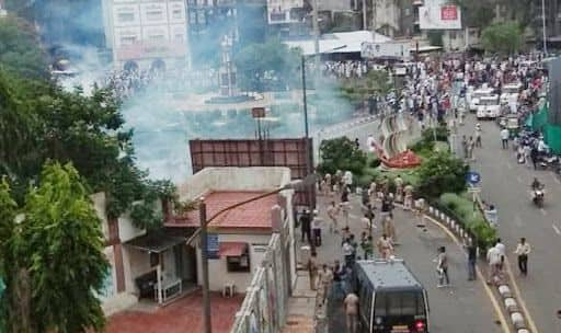 Surat: Clashes Erupt in Nanpura After Police Stops Rally Held Without Permit, 4 Cops Injured