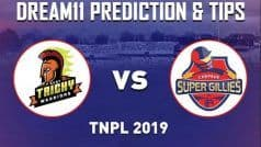 Dream11 Team Ruby Trichy Warriors vs Chepauk Super Gillies Match 6 TNPL Prediction & Tips