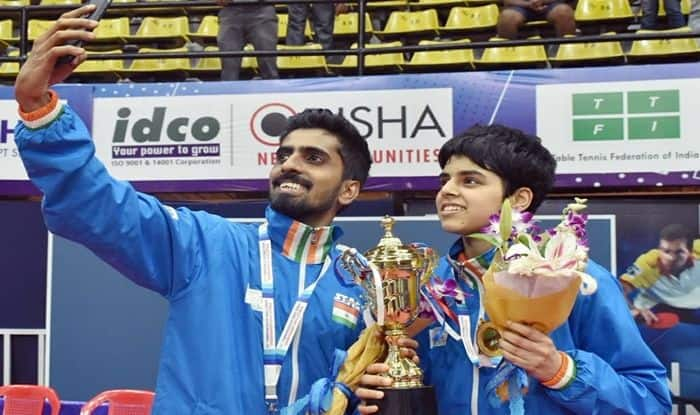 G Sathiyan, Archana Kamath, Sathiyan-Kamath, Sathiyan-Archana win mixed team gold, Commonwealth Table Tennis Championships, Table Tennis Championship, Table Tennis News, Sharath Kamal, Achanta Sharath Kamal