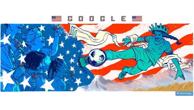 Google celebrates 2019 FIFA Women's World Cup final with a doodle