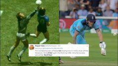 Move Over Maradona's 'Hand of God', Stokes' 'Bat of God' is A Runaway Hit on Twitter | POSTS