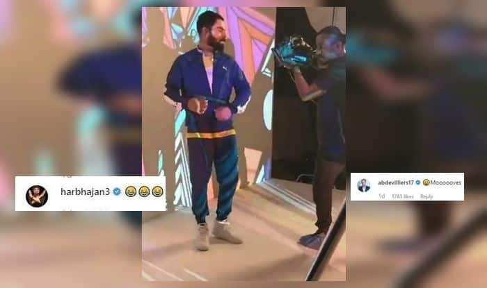 Virat Kohli, Virat Kohli Dance, Virat Kohli dance moves, AB De Villiers impressed with Virat Kohli dance moves, Harbhajan Singh laughs at Virat Kohli's moves, Team India, Indian Cricket Team, Cricket News, India tour of West Indies