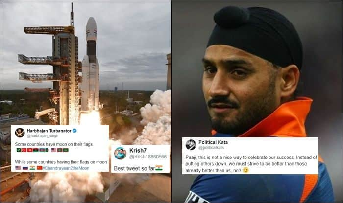 Harbhajan Singh Trolls Pakistan Over Chandrayaan-2, Harbhajan Singh Trolls Pakistan, Some Have Moon on Flags, Some Flag on Moon, Indian Cricket Team, Pakistan Cricket Team, Cricket News