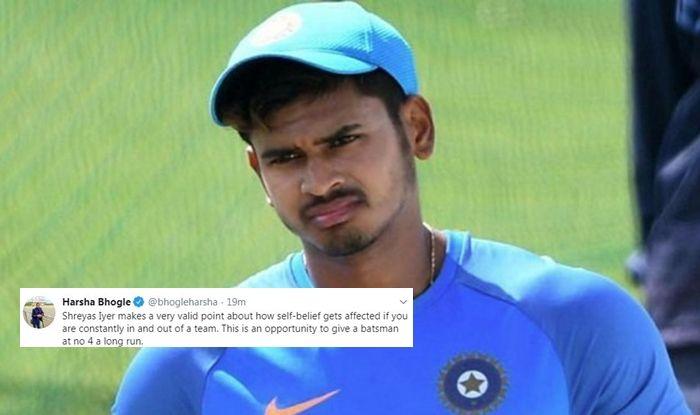 Harsha Bhogle, Harsha Bhogle on No 4, Shreyas Iyer For No 4, India tour of West Indies 2019, Ind vs WI, WI vs Ind, Indian Cricket Team, Team India, Cricket News, Shreyas Iyer statement