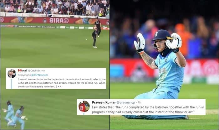 Should England Have Got Six Runs or Five?, England Beat New Zealand by virtue of boundaries, Ben Stokes overthrow controversy, ICC Cricket World Cup 2019, ICC World Cup 2019 Finals, Lords, London, Ben Stokes, overthrows, Super Over, Cricket News, ICC Rules