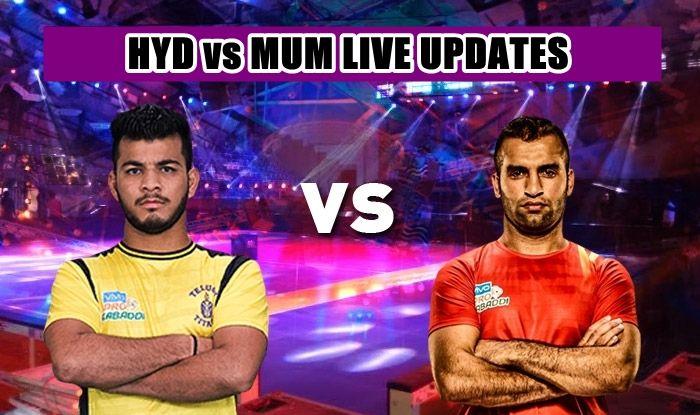 Telugu Titans vs U Mumba, Pro Kabaddi League 2019, live score, HYD vs MUM live score, point by ponit upadte, HYD vs MUM, HYD vs MUM live streaming, HYD vs MUM scoreboard, PKL 2019, Pro Kabaddi League 2019 1 Match 1, live HYD vs MUM, live score MUM vs HYD, live scorecard, HYD vs MUM live, live score HYD vs MUM match 1, Match 1 HYD vs MUM live