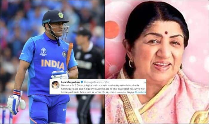 MS Dhoni, Lata Mangeshkar heartfelt post, MS Dhoni, retirement, #DontRetireDhoni, Lata Mangeshkar asks Dhoni not to retire, MS Dhoni six, Fans ask Dhoni not to retire, MS Dhoni dismissal, MS Dhoni runout fake news, MS Dhoni retiring, MS Dhoni runout, ICC Cricket World Cup 2019 Semi-Final 1, ICC World Cup 2019 Semi-Final 1, Cricket News, New Zealand beat India by 18 runs, Manchester, Old Trafford, World Cup 2019, Captain Cool, Mahi