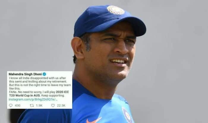 MS Dhoni, MS Dhoni retirement, MS Dhoni Fake News, MS Dhoni to play T20 World Cup, Facebook, Former India captain MS Dhoni, ICC, Cricket News