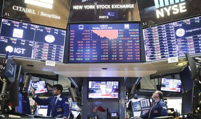 US stocks, New York stock exchange, Dow Jones, Nasdaq Composite Index, Wall Street