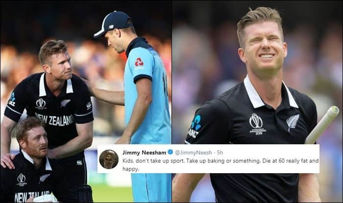 Jimmy Neesham, Jimmy Neesham Twitter, Jimmy Neesham heartbreaking tweets, Kids Dont Take up Sports, Cricket World Cup 2019, ICC World Cup 2019 Finals, Lords, London, Ben Stokes, Super Over, Cricket News, ICC Rules, England beat New Zealand in Super Over, England beat New Zealand to win World Cup