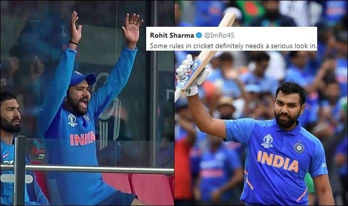Rohit Sharma slams ICC, Rohit Sharma leading run-getter in ICC CWC 2019, Rohit Sharma records, ICC trolled, England Beat New Zealand by Virtue of Boundaries, ICC Cricket World Cup 2019, ICC World Cup 2019 Finals, Lords, London, Ben Stokes, overthrows, Super Over, Cricket News