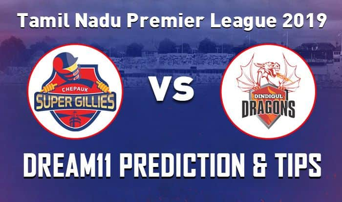 Dindigul Dragons vs Chepauk Super Gillies Dream11 Team - Check My Dream11 Team, Best players list of today's match, Dindigul Dragons vs Chepauk Super Gillies Dream11 Team Player List, Dindigul Dragons Dream11 Team Player List, Chepauk Super Gillies Dream11 Team Player List, Dream11 Guru Tips, Online Cricket Tips, Match 1 Tamil Nadu Premier League, Online Cricket Tips - Tamil Nadu Premier League, Cricket Tips And Predictions - Match 1.