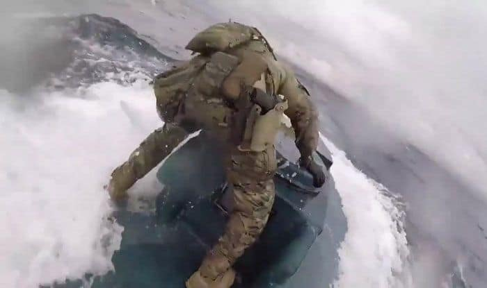 US Coast Guards, Narco-submarine, Cocaine seized, Eastern Pacific Ocean, Viral video