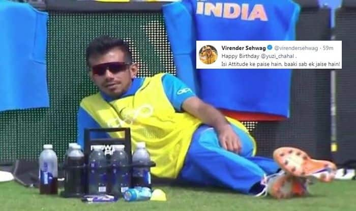 Virender Sehwag Trolls Yuzvendra Chahal, Virender Sehwag wishes Chahal, Happy Birthday Yuzvendra Chahal, Yuzvendra Chahal turns 29, India tour of West Indies, Ind vs WI, WI vs Ind, Cricket News, Indian Cricket Team, Team India