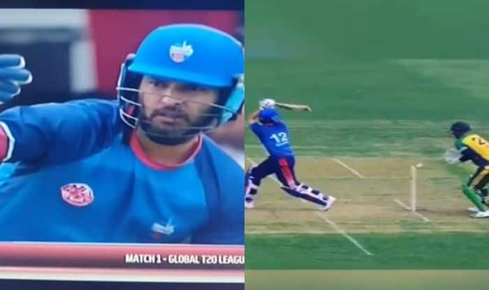 Yuvraj Singh, Yuvraj Singh Bizarre Dismissal, Yuvraj Singh Dismissal, Yuvraj Singh Global T20 Canada, Global T20 Canada League, Yuvraj GT20 Canada, Chris Gayle, Toronto Nationals vs Vancouver Knights, Yuvraj Singh Retirement, Yuvraj Dismissal GT20 Canadal, Cricket News