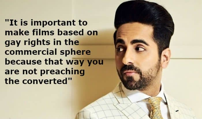 Ayushmann Khurrana Talks About Gay-Rights And Why More Mainstream Films Should be Made on Same-Sex Relationship