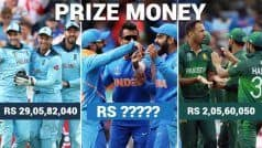 Money Matters! Prize Money of All CWC'19 Teams in INR