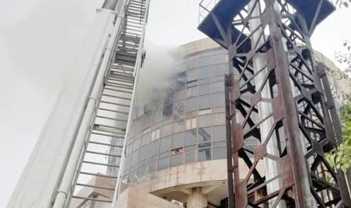 Delhi: Fire Breaks Out at Directorate General of Health Services Office in Karkardooma; 22 Fire Tenders on Spot