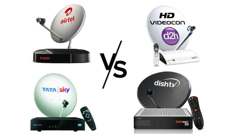 Tata Sky vs D2h vs Dish TV vs Airtel Digital TV: Set-top-box prices, features compared