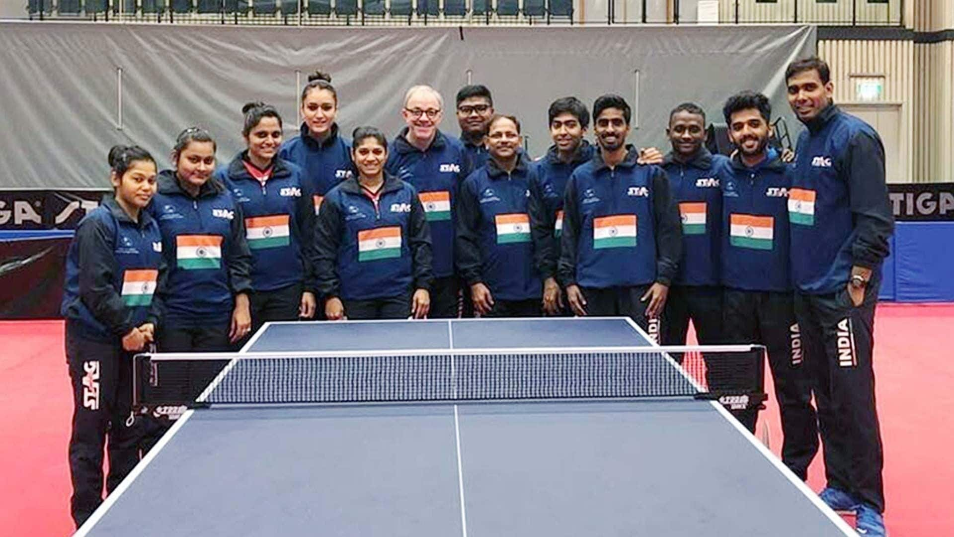 Table Tennis, Indian Table Tennis team, Indian men table tennis team, Indian women table tennis team, Commonwealth Table Tennis Championships 2019,