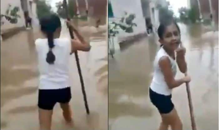 Haryana Schoolgirl Reporting on Waterlogging is Winning Hearts With Her Innocence And Talent-Watch