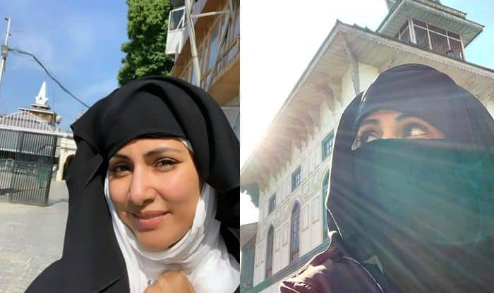 Hina Khan Wears Burqa And Walks Barefoot to Mosques in Srinagar – Pictures go Viral