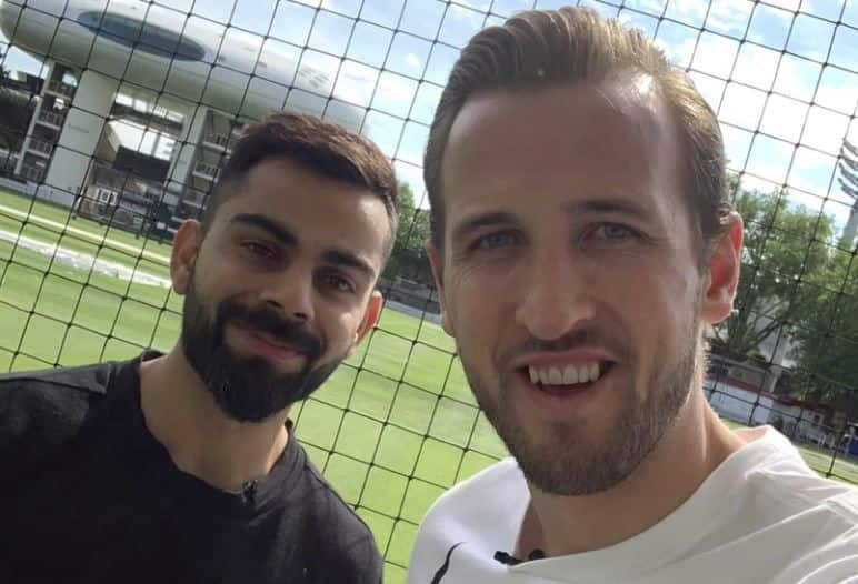 Harry Kane, Tottenham Hotspurs, Virat Kohli, England footballer Harry Kane, Tottenham Hotspurs footballer Harry Kane, Indian captain Virat Kohli, ICC World Cup 2019, Virat Kohli in ICC World Cup 2019, Kane wishes Kohli, Virat Kohli Harry Kane image,