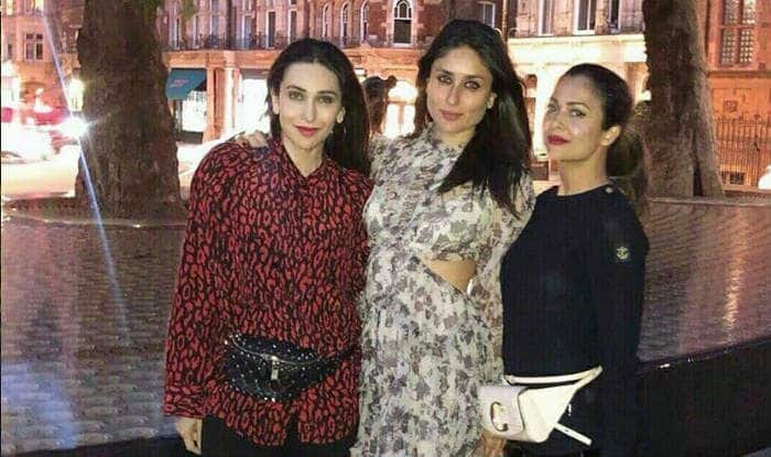 Kareena Kapoor Khan Poses With Karisma Kapoor And Amrita Arora in Her New Picture From London