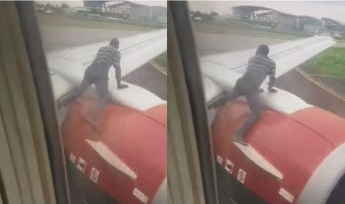 Nigerian Man Climbs on Plane Wing Just Minutes Before Takeoff, Watch Viral Video