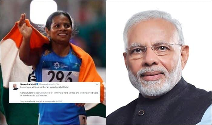 Dutee Chand, World University Games, Dutee Chand Gold Medal, Narendra Modi, Ram Nath Kovind, Kiren Rijuju,