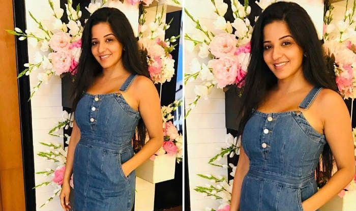 Bhojpuri Bombshell Monalisa Looks Hot in Denim Dress And a no-Makeup Look – See Latest Photos
