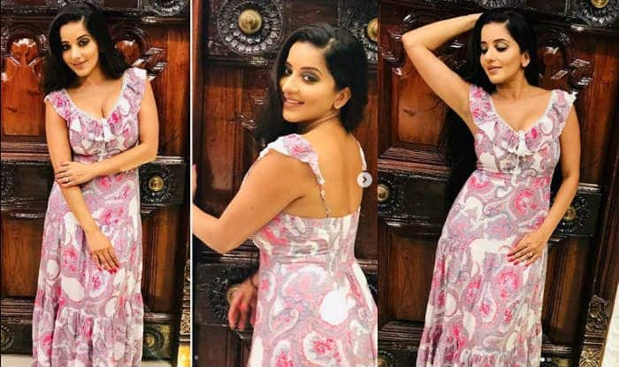 Monalisa Looks as Fresh as Dew Posing in Her Comfortable Pink Maxi Dress – See Latest Pics