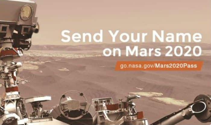 NASA's Latest Offer to 'Send Your Name to Mars' Gets ...