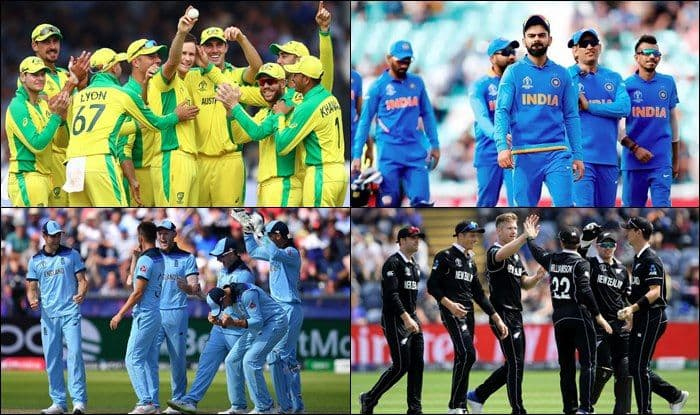 ICC World Cup 2019 semi-final teams, ICC World cup 2019 semi-finalists, World Cup semi-finalist Australia, India, England, New Zealand, India World cup semi-final, India vs England ICC World Cup 2019 semi-final, Australia vs New Zealand semi-final, IND vs ENG, AUS vs NZ, CWC19 semi-finalists,