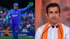 Gambhir Talks About Dhoni's Retirement, Feels he Should Take Practical Decision
