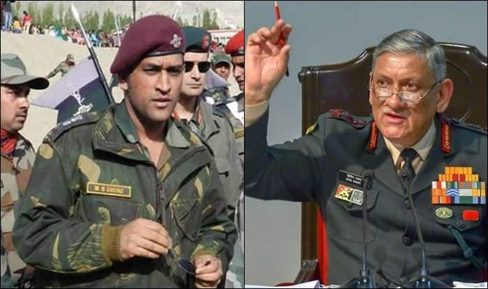 MS Dhoni, MS Dhoni Indian Army, MS Dhoni to Serve in Kashmir, Dhoni Assigned Patrolling, Guard Duty in Kashmir, Dhoni-Army-Kashmir, Dhoni to Perform Patrolling Duty, MS Dhoni Parachute Regiment, Lieutenant Colonel MS Dhoni, Cricket News, Dhoni Joins Indian Army, Army Chief general on MS Dhoni, Army Chief General Bipin Rawat speaks about MS Dhoni, Bipin Rawat Army Chief on MS Dhoni, Bipin Rawat, Army Chief General Bipin Rawat, Army Chief General of India, Army Chief 2019