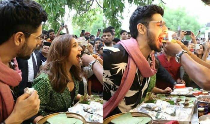 Jabariya Jodi, Parineeti Chopra and Sidharth Malhotra in Jabariya Jodi, Parineeti Chopra and Sidharth Malhotra eating fire paan, fire paan, Jabariya Jodi Delhi promotions, Jabariya Jodi promotions