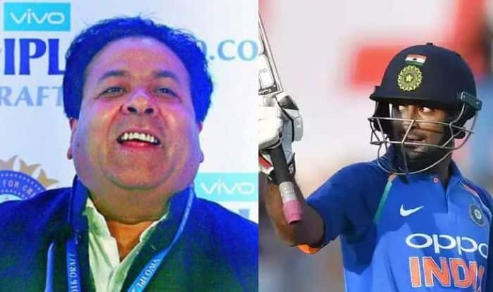 Rajeev Shukla and Ambati Rayudu