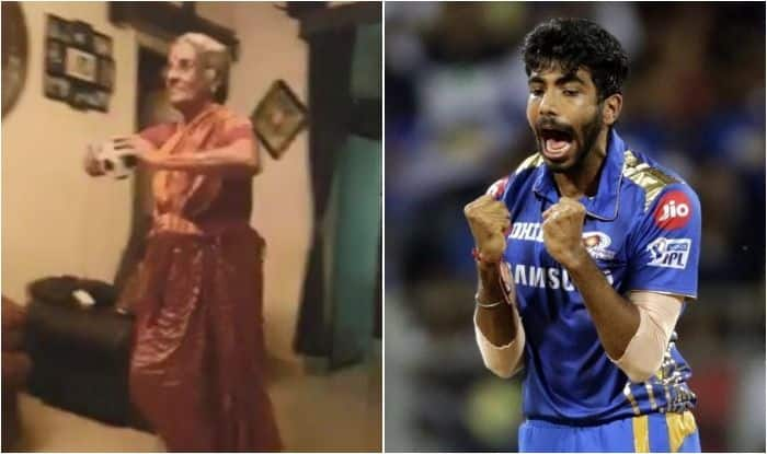 Jasprit Bumrah, Old Lady, ICC Cricket World Cup 2019, Bumrah-Old Lady, Old lady imitates Bumrah bowling action, Bumrah bowling action, Cricket News, Team India, Jasprit Bumrah World Cup, Old lady emulates Bumrah bowling action, Indian Cricket