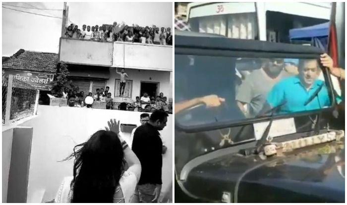 Sonakshi Sinha-Salman Khan Get Roaring Welcome by Fans as Dabangg 3 Shoot Begins in Phaltan