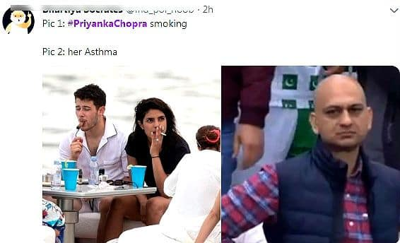 Priyanka Chopra Smokes a Cigarette And Trolls Remind Her She Has Asthma – Check Memes