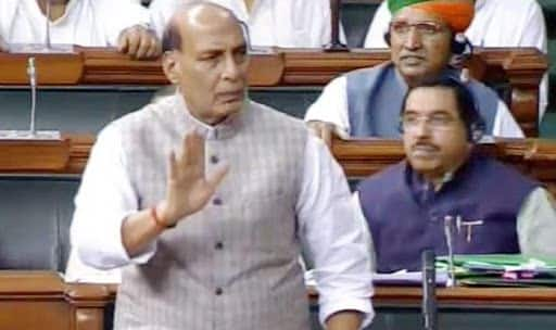 As Rajnath Singh Counters Oppn Over Donald Trump's Kashmir Remark, Congress Walks Out of Lok Sabha
