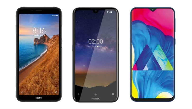 Xiaomi Redmi 7A vs Samsung Galaxy M10 vs Nokia 2.2: Price in India, features compared